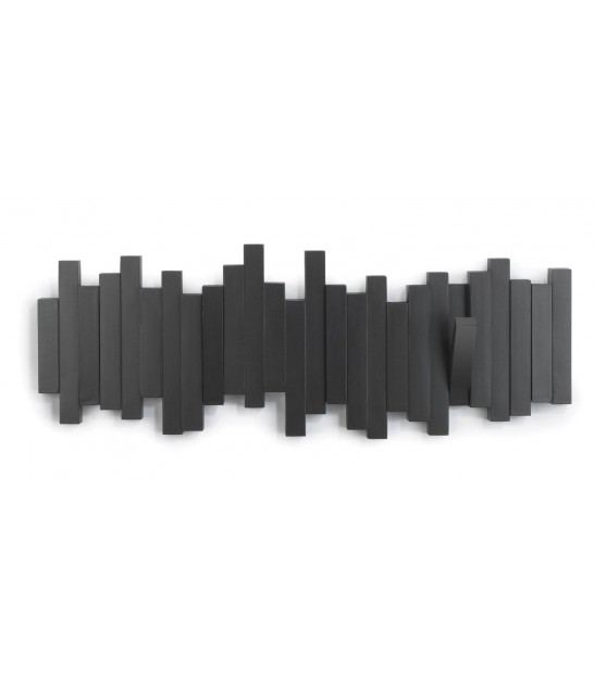 "Porte Manteaux Mural Design Noir ""Sticks Multi Hook Black - Umbra"