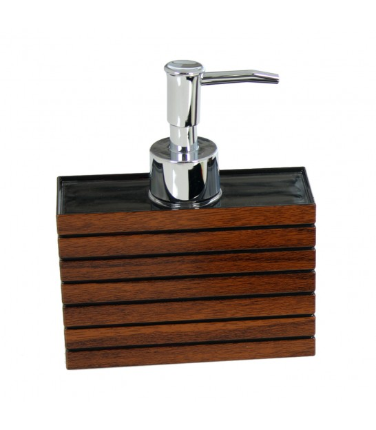 Soap Dispenser Brown Acrylic Wood Effect