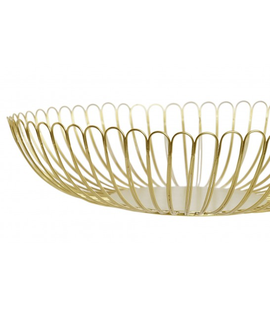 Gold Metal Fruit Basket