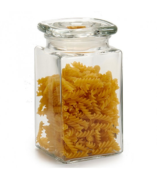Kitchen Square Glass Jar Hermetic Lid - 1.4L