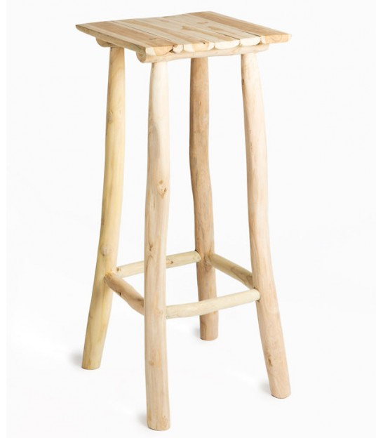 Selette / Table d'Appoint en Teck Naturel - Hauteur 90cm