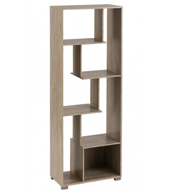 Wood and Black Metal Shelf - Height 76cm