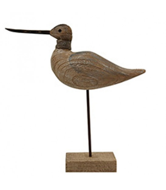 Statue Wood Decorative Bird Laughing Seagull