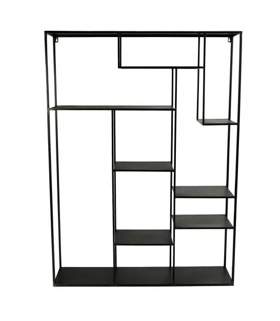 Metal Black Wall shelf Graphic