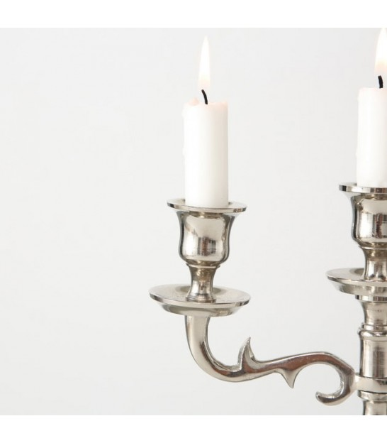 Silver candlestick 3 branches 26 cm