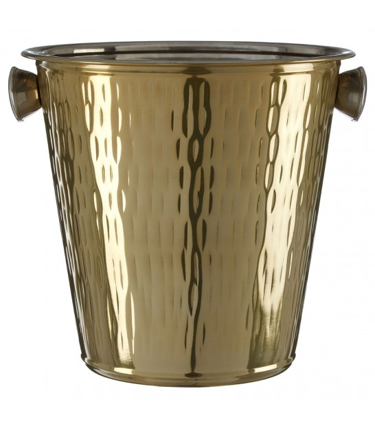 Golden Ice Bucket with Handles