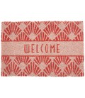 Paillasson Coco Motifs Art Déco Rose Welcome - 60x40cm