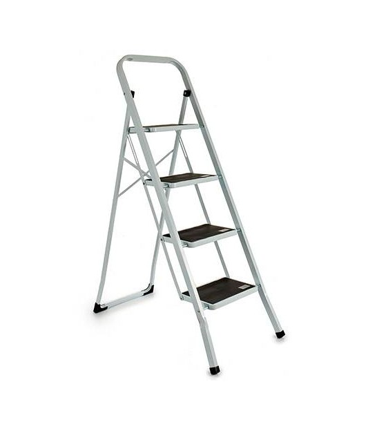 Metal Two Step Ladder Red Square Tube