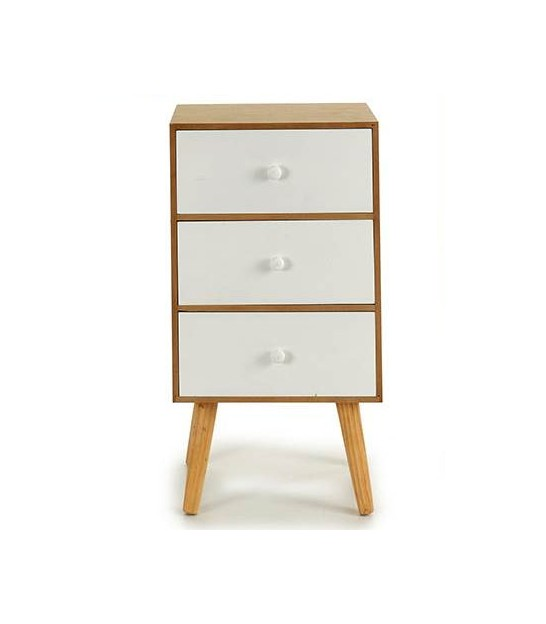 Bedside Table with 1 Drawer - Height 55cm