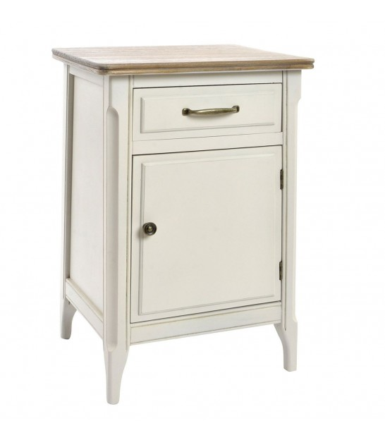 Nightstand Wood Grey 3 Drawers