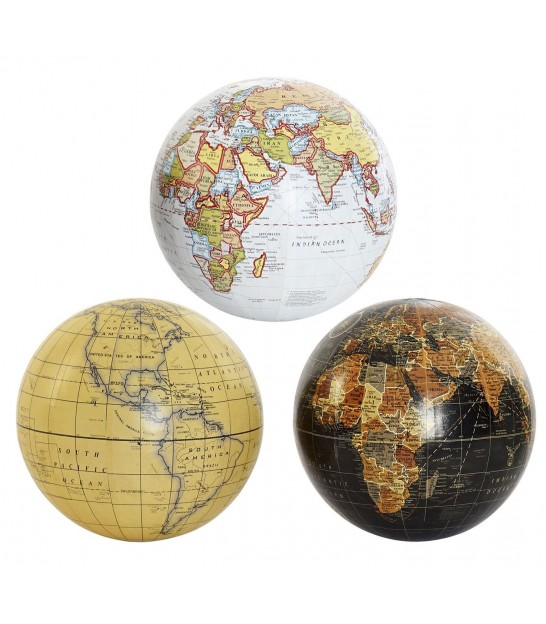 Set of 3 Globes Multicolor