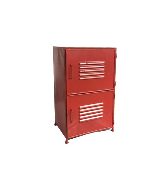 Night Stand Table Red Metal