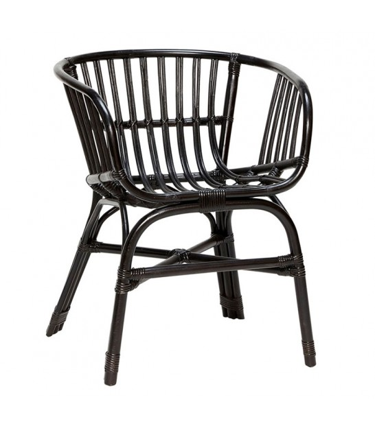 Chair Rattan Black - Hubsch