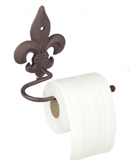 Wall WC Paper Holder Brown Iron