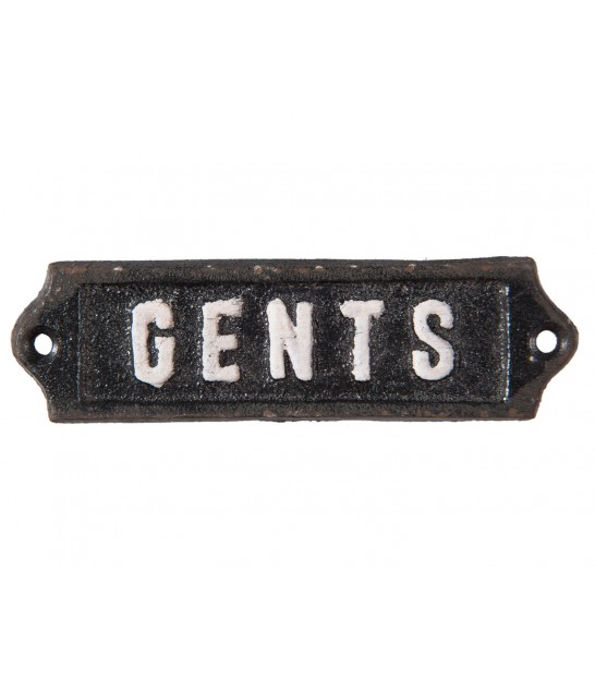 Wall Plate Iron Gents