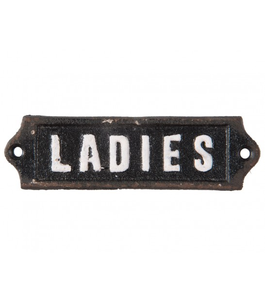 Plaque de Porte WC Signalétique Vintage Ladies