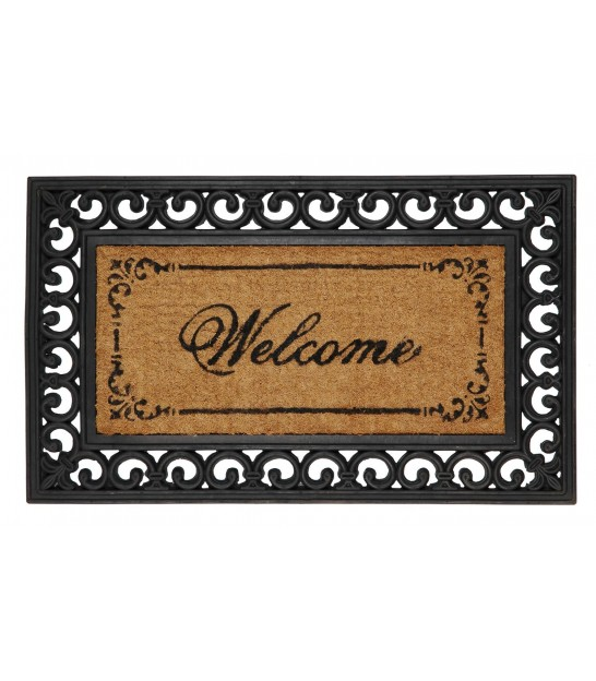 Coco and Rubber Doormat Welcome - 75x45cm