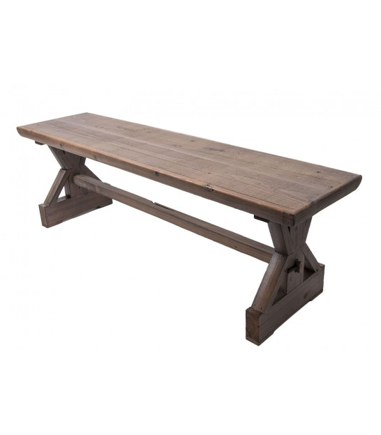 Rustic Bench Natural Wood