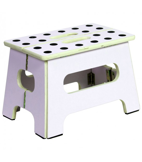 Pink Foldable Step Stool - Height 41cm