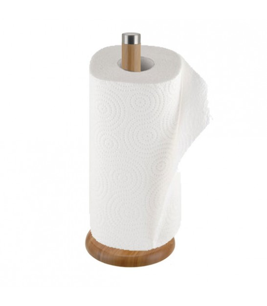 Kitchen Roll Holder Bamboo and Metal