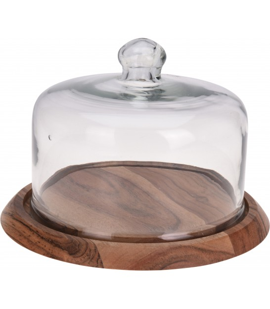 Cheese Tray with Glass Cover