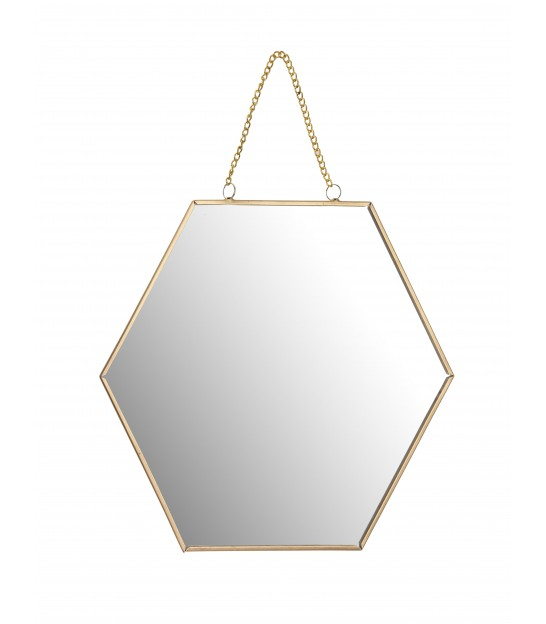 Mirror Golden Metal - 25x22x1cm