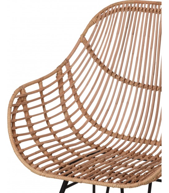 Armchair Teak and Rattan