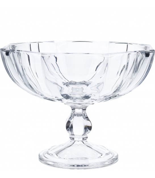 Bowl on Stand Glass - diameter 24cm