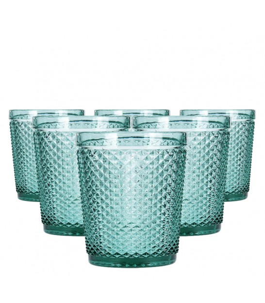 Set of 4 Artic Blue Glass Tumblers