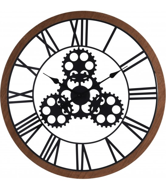 Wall Clock Black Metal - 57cm