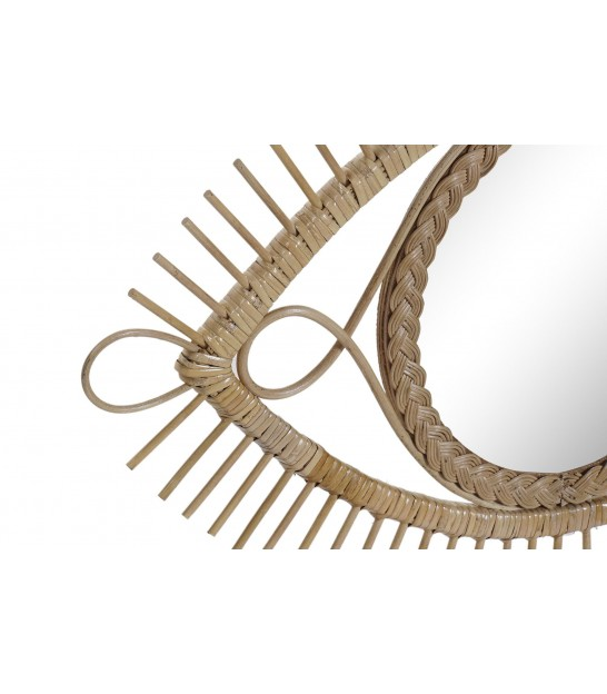 Wall Mirror Rattan Nature Eye