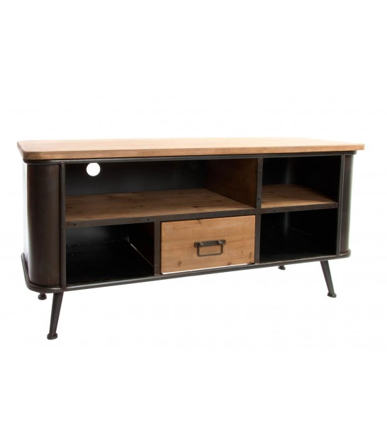 TV Stand Black MDF Wood