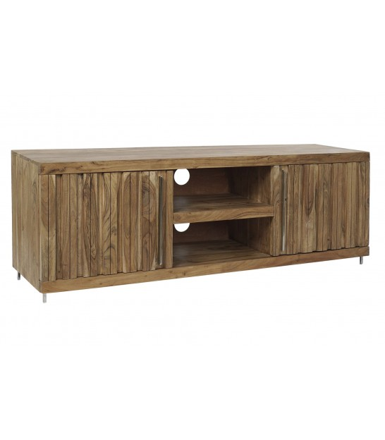 TV Stand Acacia Wood 2 Drawers