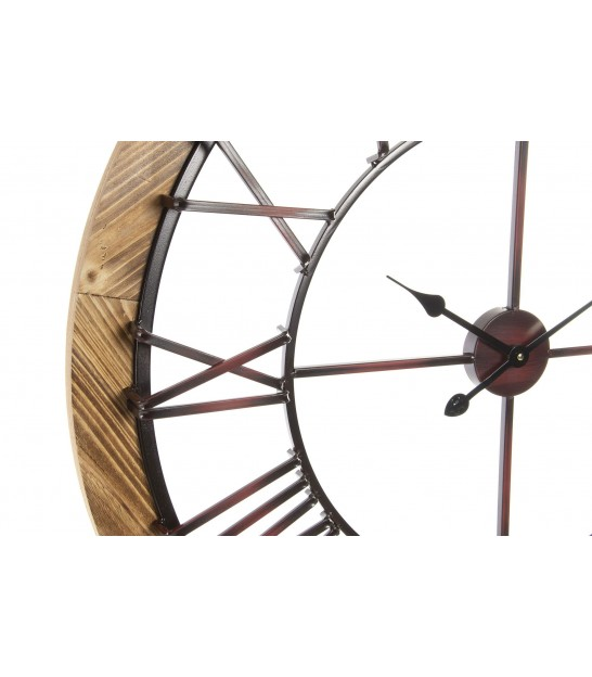Wall Clock Black Metal - 70cm