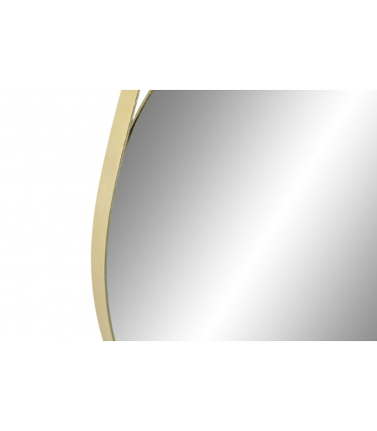 Round Golden Metal Mirror - diameter 29cm
