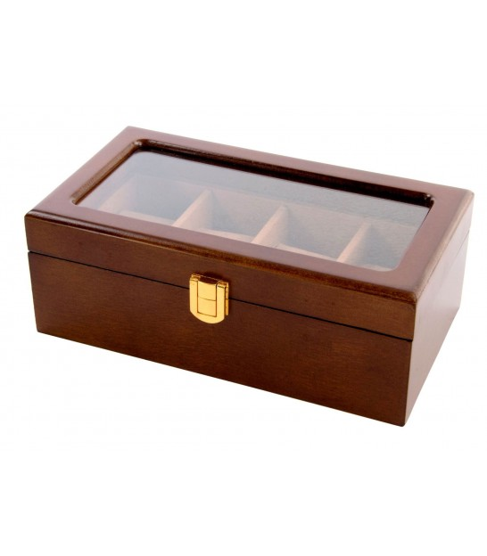 Wooden Storage Box For 4 Watches