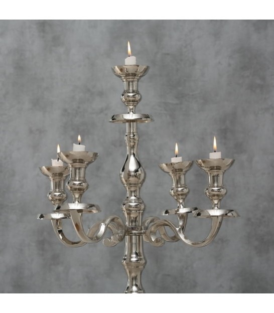 Great silver Victoria candlestick to place 120 cm