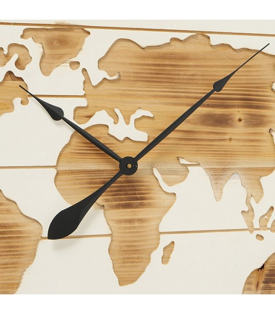 Wall Clock World Map