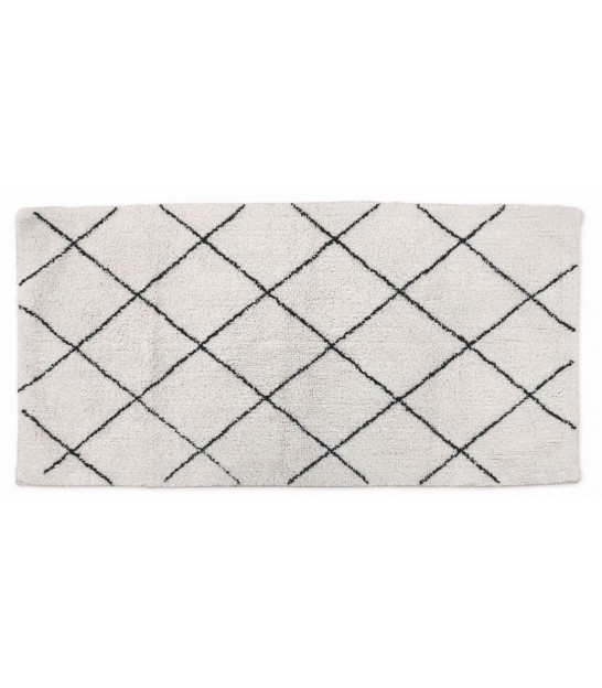 Rug Cotton White and Black - 70x140cm