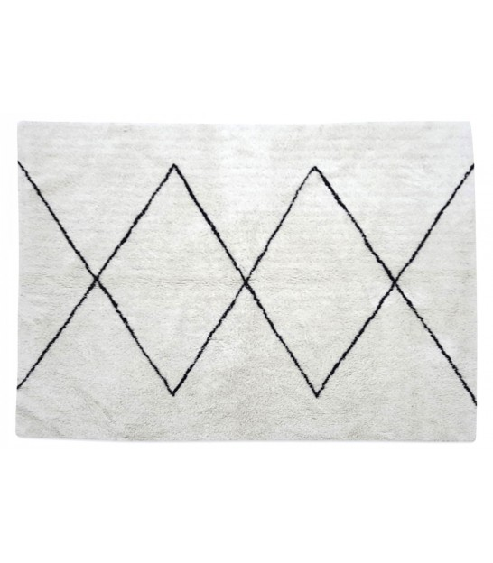 Rug Cotton White and Black Triangles - 120x170cm