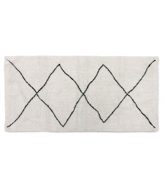 Rug Cotton White and Black Triangles - 70x140cm