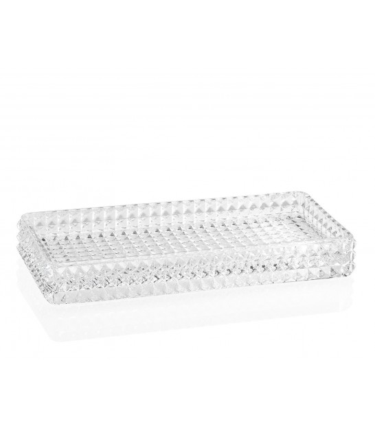 Bathroom Tray Glass Diamond