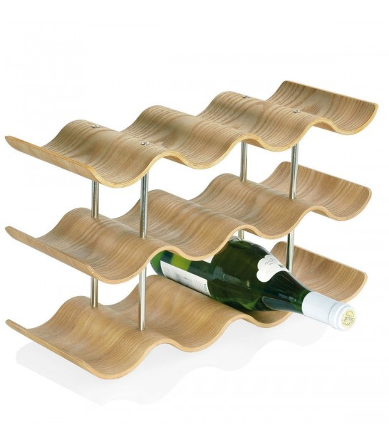 Wall Bottles Holder Wood 5 Bottles