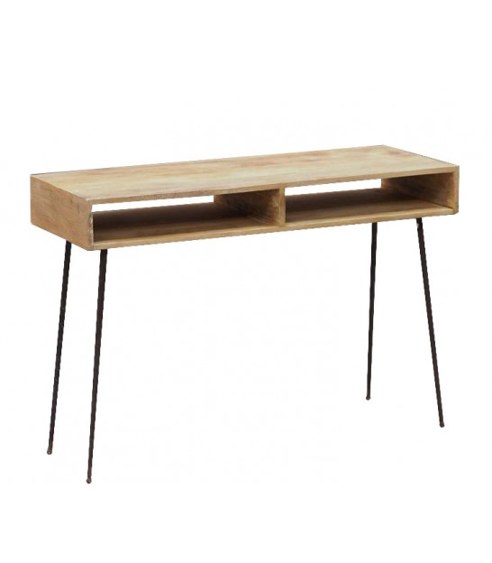 Console Table Wood and Metal - Length 117cm