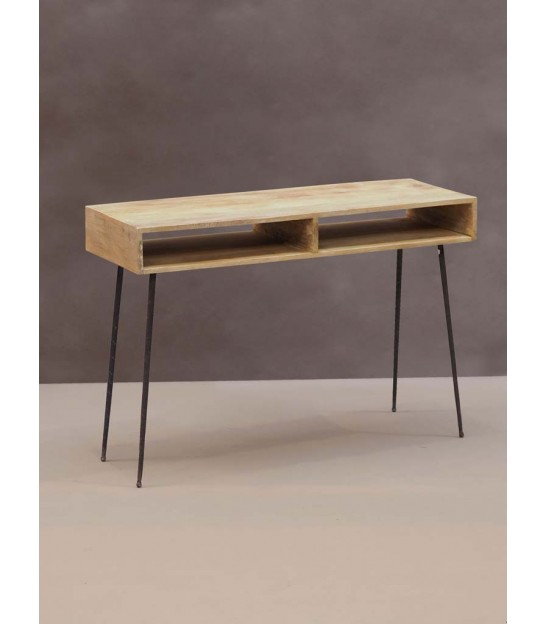 Console Table Wood and Metal - Length 106cm
