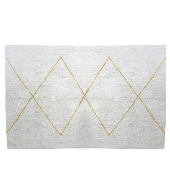 Rug Cotton White and Yellow Triangles - 120x170cm