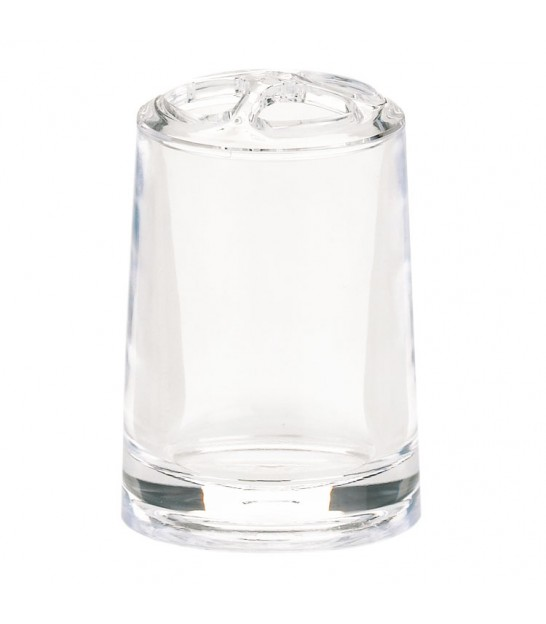 Toothbrush Holder Glass Transparent Diamond