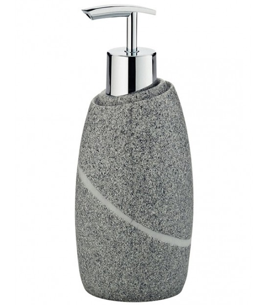 Soap Holder Grey Polyester Stone Effect