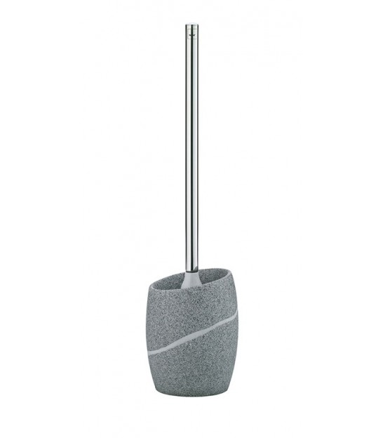 Grey Toilet Brush Plastic and Bamboo