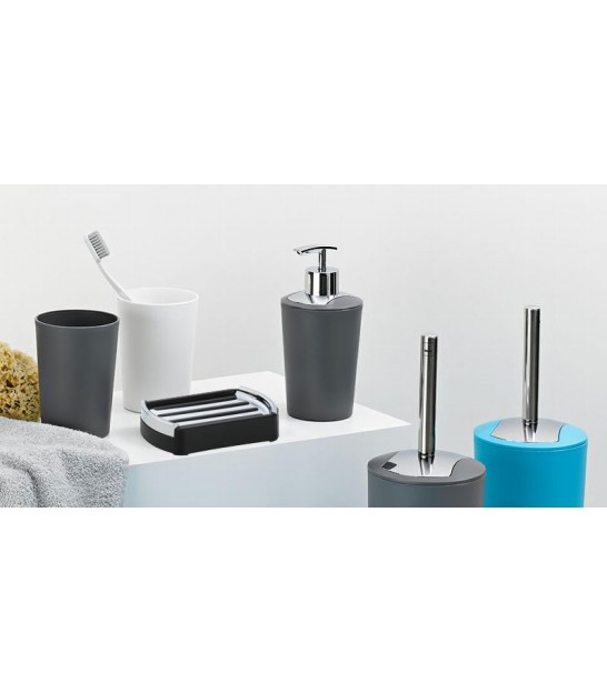 Soap Dispenser Plastic Grey and Silver